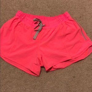 Hot pink Lululemon shorts